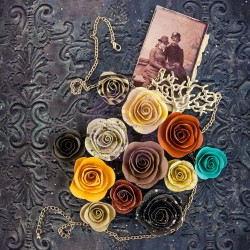 Timeless Memories Mulberry Paper Flowers Flashback Prima Marketing
