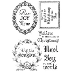"Letters to Santa Clear Stamps 6""x4"" Kaisercraft"