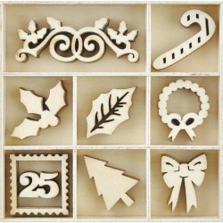 Dear Santa Wooden Flourishes Pack 45 Pkg Kaisercraft