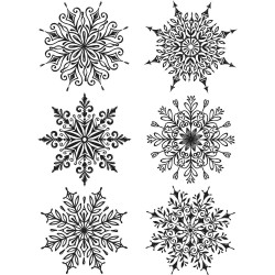 """Swirly Snowflakes Tim Holtz Cling Rubber Stamp Set 7""""x8,5"""""""