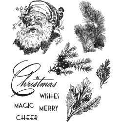 "Great Ourtdoors Tim Holtz Cling Rubber Stamp Set 7""x8,5"""