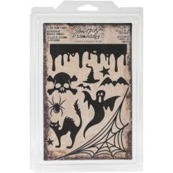 Halloween Cling Foam Stamps Idea-ology by Tim holtz