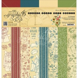 """Penny's Paper Dolls Family Patterns & Solids 12""""x12"""" Graphic 45"""