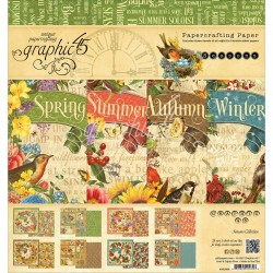 "Seasons Papercrafting Paper 8""x8"" Graphic 45"