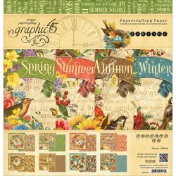 "Seasons Papercrafting Paper 12""x12"" Graphic 45"