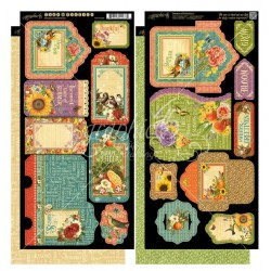 "Seasons Tags & Pockets Cardstock Die Cuts 6""x12"" Sheet Graphic 45"