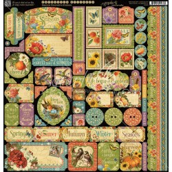 "Seasons Cardstock Stickers 12""x12"" Graphic 45"