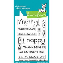 "Happy Happy Happy Clear Stamp 3""x4"" Lawn Fawn"