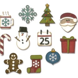 Mini Christmas Things Thinlits Dies by Tim Holtz Sizzix