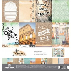 "Discover Italy Paper Crafting Kit 12""x12"" Paper House"