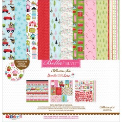 "Santa Stops Here Collection Kit 12""x12"" Carta Bella"