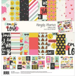 "Emoji Love Collection Kit 12""x12"" Simple Stories"
