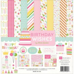 "Birthday Wishes Girl Coleection Kit 12"" x 12"" Echo Park"