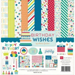 "Birthday Wishes Boy Coleection Kit 12"" x 12"" Echo Park"