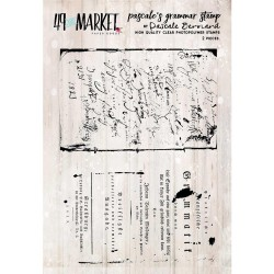 """Pascale's Grammar Clear Stamps 3""""x4"""" 49 & Market"""