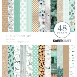 "Mint Wishes 12""x12"" Paper Pad Kaisercraft"