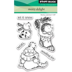 "Merry Delight Clear Stamps 3""x4"" Penny Black"