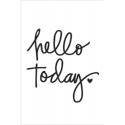 Hello Today Black Small Planner Decal Carpe Diem Simple Stories
