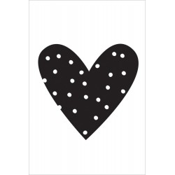 Heart Black Small Planner Decal Carpe Diem Simple Stories