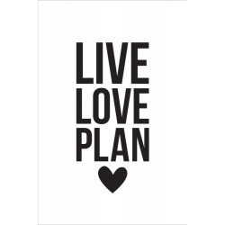 Leave Love Plam Black Small Planner Decal Carpe Diem Simple Stories