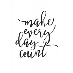 Make Every Day Count Black Large Planner Decal Carpe Diem Simple Stories