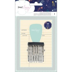 Stamp and Notepad Set Dear Lizzy American Crafts
