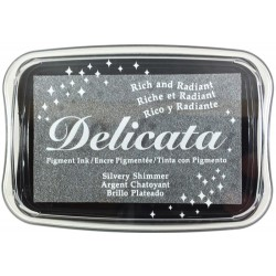 Silvery Shimmer Pigment Ink Delicata