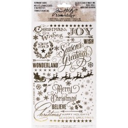Gilded Christmas Remnant Rubs Rub-Ons 2 Pkg Idea-ology by Tim Holtz