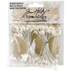 Beaded Berry Stems 50 Pkg Idea-ology by Tim Holtz
