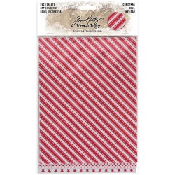 Christmas Glittered Adhesive Deco Sheets 6 Pkg Idea-ology by Tim Holtz
