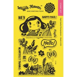"Enveloper Hello Crafts Clear Stamps 4""x6"" Waffle Flower"
