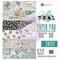 "Zella Teal Paper Pad 6""x6"" Prima Marketing"