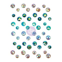 Zella Teal Say It In Crystals Adhesive Embellishments Prima Marketing