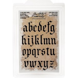 Christmas Alpha Lowercase Idea-ology by Tim Holtz