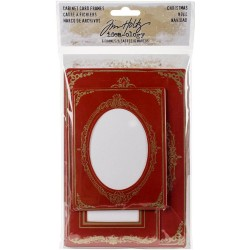 Christmas Cabinet Card Frames Idea-ology by Tim Holtz