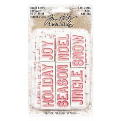 Christmas Words & Phrases Chipboard Quote Chips Idea-ology by Tim Holtz