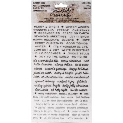 Christmas Words Remnant Rubs Rub-Ons Idea-ology Tim Holtz