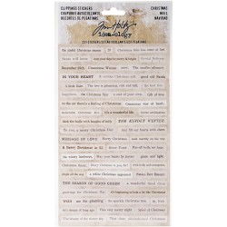 Christmas Words & Phrases Clippings Stickers Idea-ology by Tim Holtz