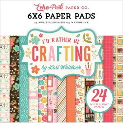 "I'd Rather Be Crafting Paper Pad 6""x6"" Echo Park"