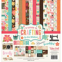 "I'd Rather Be Crafting Collection Kit 12""x12"" Echo Park"