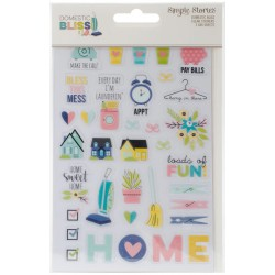 "Domestic Bliss Clear Stickers 4""x6"" Simple Stories"