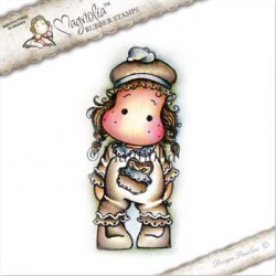 Timbro Gingerbread Tilda Magnolia Rubber Stamp - CP-17