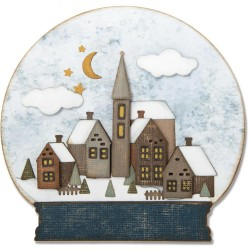 Snowglobe 2 Thinlits Dies by Tim Holtz Sizzix