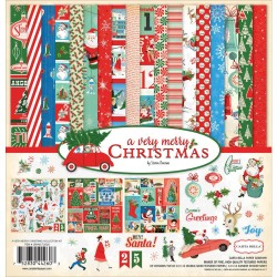 "A Very Merry Christmas Collection Kit 12""x12"" Carta Bella"