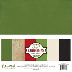 "A Perfect Christmas Coordinating Solids Paper Pack 12""x12"" Echo Park"