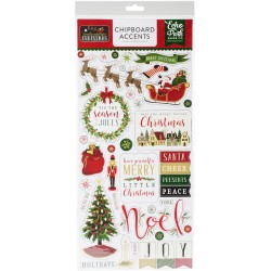 "Twas The Night Before Christmas Adhesive Chipboard Accents 6""x12"" Echo Park"