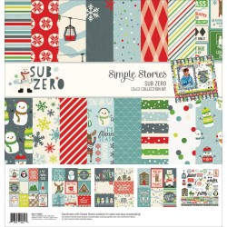 "Sub Zero Collection Kit 12""x12"" Simple Stories"