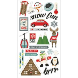 "Sub Zero Chipboard Stickers 6""x12"" Simple Stories"