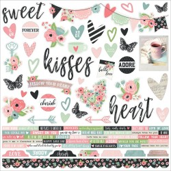 "Romance Combo Cardstock Stickers 12""x12"" Simple Stories"