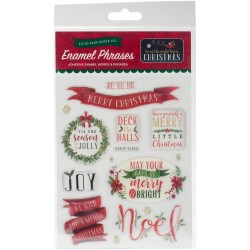 Twas The Night Before Christmas Words & Phrases Adhesive Enamel Embellishmnt